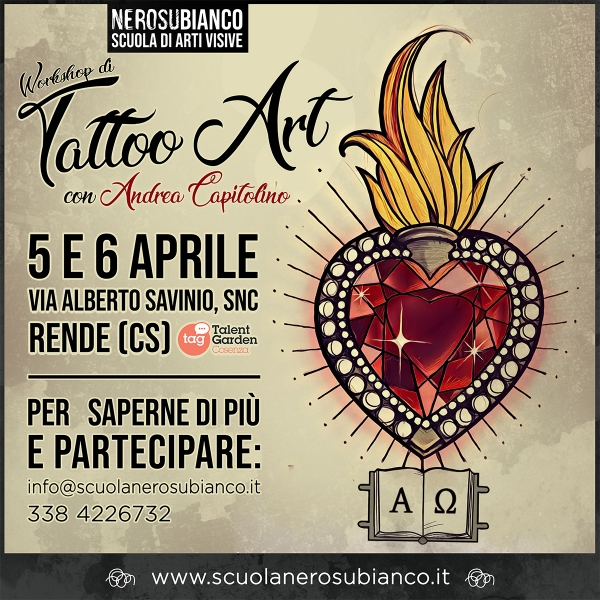 5 e 6 aprile: arriva il Workshop di Tattoo Art!